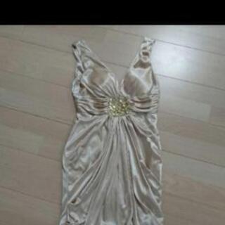ビジュー付きバルーンドレス 未使用