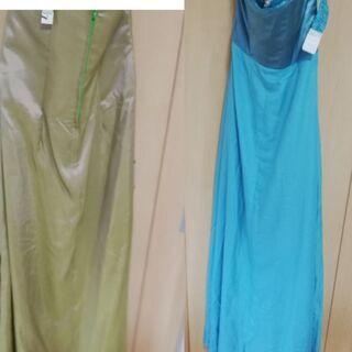 緑 青 ドレス