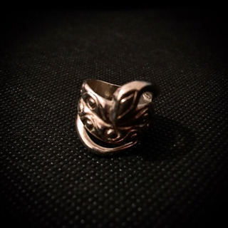 シルバー925 大振り 蛇 指輪 リング