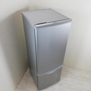 中古 168L 2ドア冷蔵庫 自動霜取りファン式 シルバー パナ...