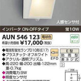【引き取り特価】防雨型ブラケット KOIZUMI AUN546123