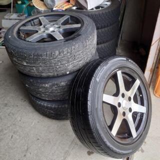 16インチアルミ 7J  タイヤ付き四本セット