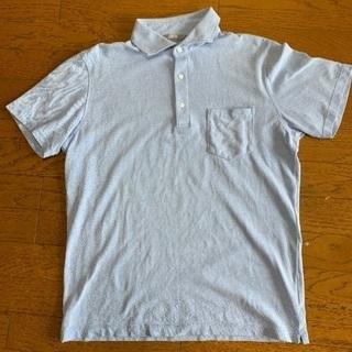 【美品】ユニクロ Lサイズ 水色のポロシャツ