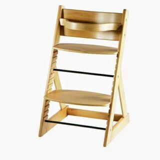 高さ調整可能で機能性抜群★安心な日本製木製椅子★2脚あります