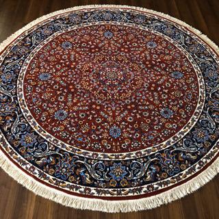 イラン製 ウィルトン織 アクリル 円形 250cm 総柄