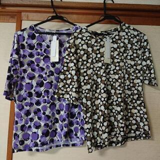 女性用Tシャツ、サイズLとM、二枚組