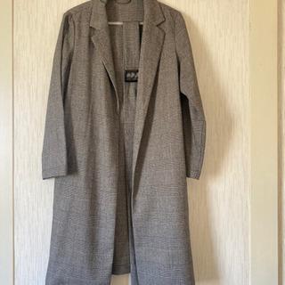 トレンチ風 ロングジャケット チェックコート