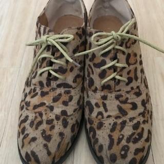 ウィングチップ 靴 24.0c 起毛