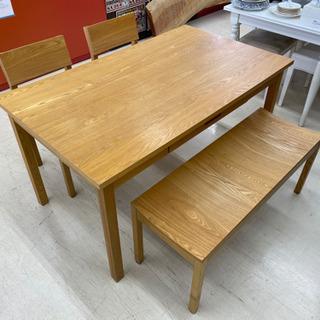 unico ウニコ ダイニングテーブル 4点セット 長椅子 ベンチ