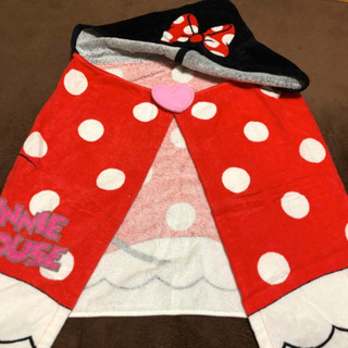 Disney ミニーのフード付タオル