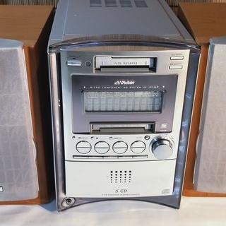 美品 ビクター コンポ スピーカー 音響 MD CD ラジオ