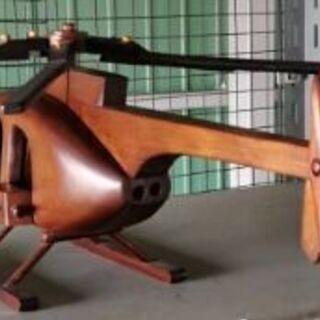 値下げします。木製ヘリコプターの置物 売ります