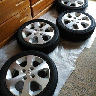 スズキ ワゴンR 14インチ アルミ タイヤ バリ溝 軽自動車