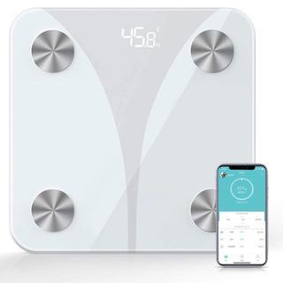 【新品未使用】体重計(体重/BMI/体脂肪率/体水分率/骨格筋/...