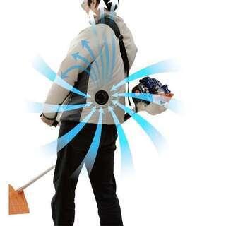 空調ウェア ファン付き バッテリー付き ジャケット ベージュ 山善 新品未開封 4の画像