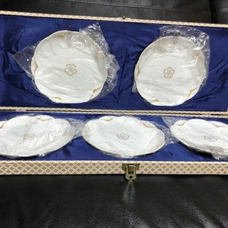 日本陶器 のりたけ 新品未使用 ホワイト×ゴールド 小皿 5枚