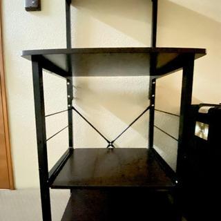 オーブンラック4段 スライド棚/おまけ調味料ラック付き