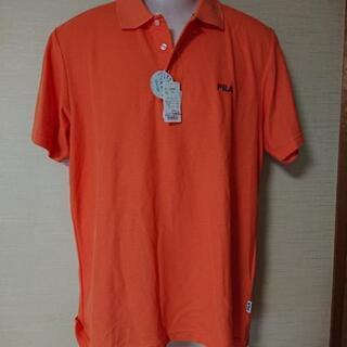メンズポロシャツ、FILA、オレンジ