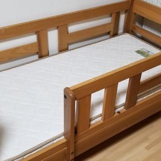 🔴キッズ用ベッド マットレス付 無垢材頑丈