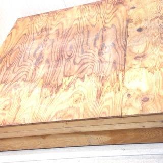 ■1533■大きい木箱 大皿 木製 約112×112 木の箱
