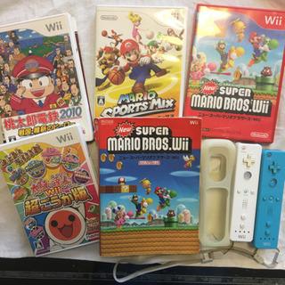 取り引き中【Wii関連】 ソフト4点 リモコン2点 攻略本セット