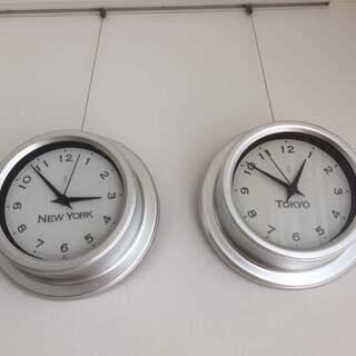 時計 TOKYO&NEW YORK 壁掛けタイプ