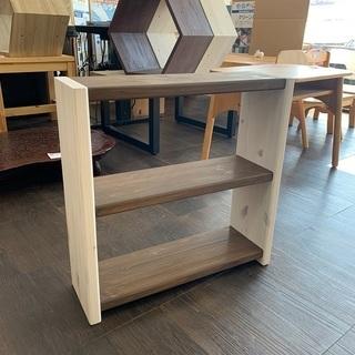 木製ラック(白/茶)小物収納 ディスプレイ収納棚
