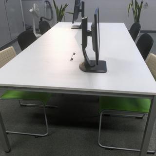オフィス用 会議テーブル・イス6脚セット