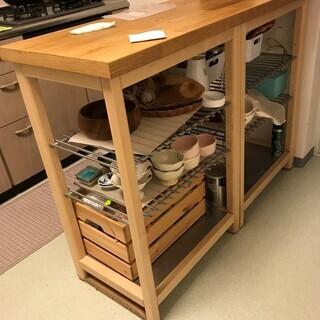 IKEA アイランドキッチン/キッチンボード/キッチンカウンター...