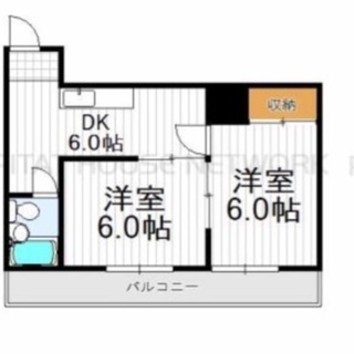2DK 50平米 駒川中野駅5分 無料キャンペーン 広々バルコニーの画像