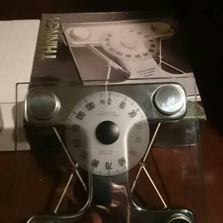 ガラス製インテリア体重計