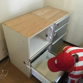 松田家具 食器棚 スチーム対応天板 定価12万円 − 愛知県