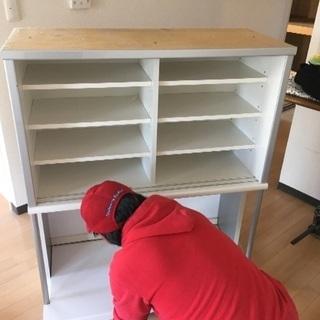 松田家具 食器棚 スチーム対応天板 定価12万円 - 家具