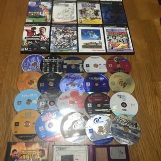 プレステ2 ソフト ケースあり12本、ソフトのみ20枚、メモリー...