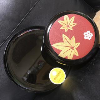 菓子器 新品未使用 紅葉&桜柄 おぼんつき