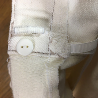 【美品】マタニティ ホワイトジーンズ - 服/ファッション
