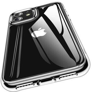 iPhone 11 ケース 日本旭硝子製 背面9Hガラス 透過率...