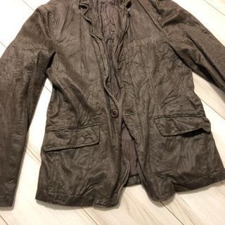 革のシワ加工のジャケット