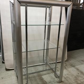 JF00279 4段ガラス棚 強化ガラス製
