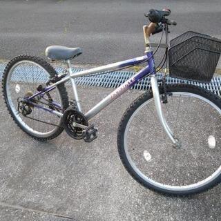 SHIMANO シマノ マウンテンバイク 26インチ ライト&カゴ付き