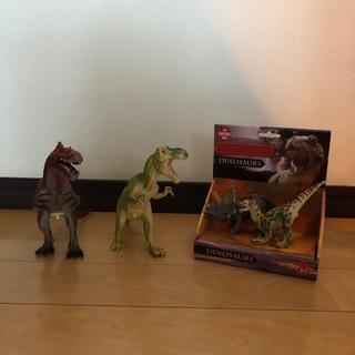 恐竜 リアルフィギュアセット ステゴザウルス スピノサウルス ス...