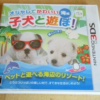 ☆NINTENDO 3DS/子犬と遊ぼ! 海編◆オシャレでかわいい