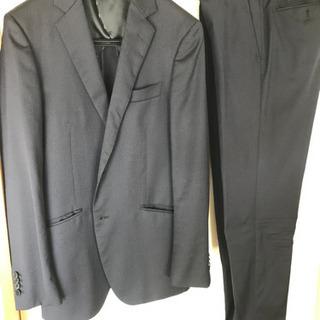 メンズ スーツ 細身 スーツカンパニー 濃紺 ドット