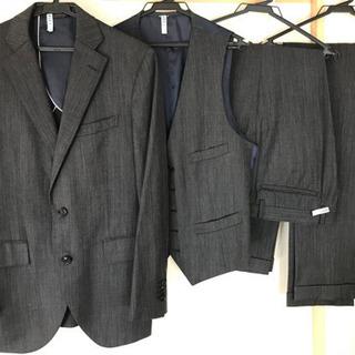 メンズ スーツ 細身 グレー スーツカンパニー スリーピース