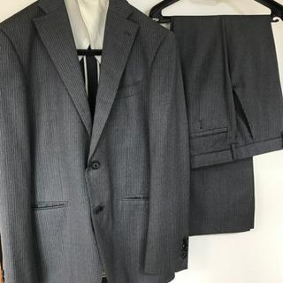 スーツ メンズ 細身 スーツカンパニー グレー ストライプ