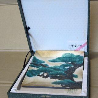 七宝焼 飾り皿 松