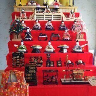 木目込み雛人形7段飾り 施設などに。