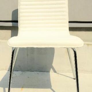 椅子 チェアー ホワイトレザー