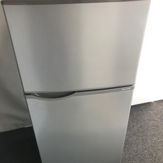 シャープ 2017年製 2ドア冷凍冷蔵庫 118L