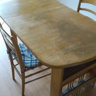 ダイニングテーブル+椅子2つセット